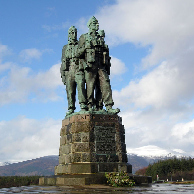 Commando memorial near Spean Bridge, Scotland